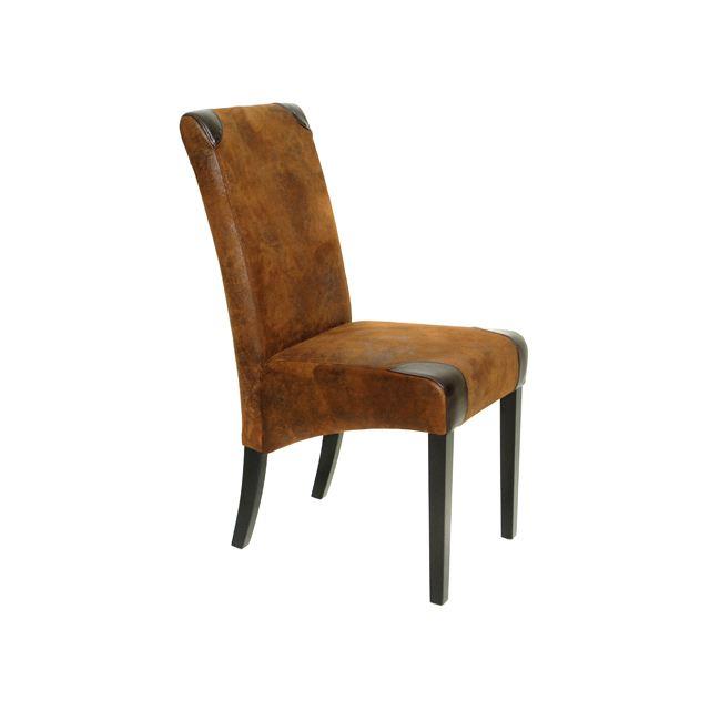 chaise salle a manger cuir vieilli