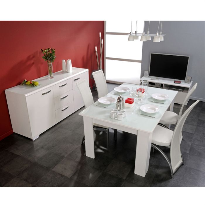 Ensemble table et chaise de salle a manger for Table bois chaise blanche
