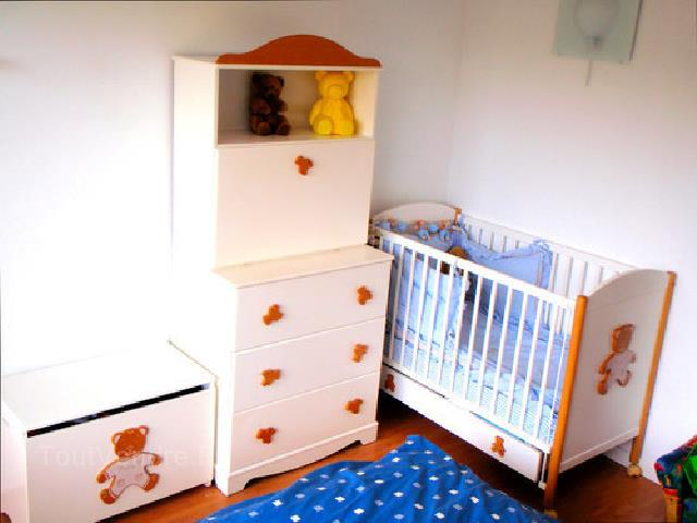 lit bebe natalys ourson. Black Bedroom Furniture Sets. Home Design Ideas