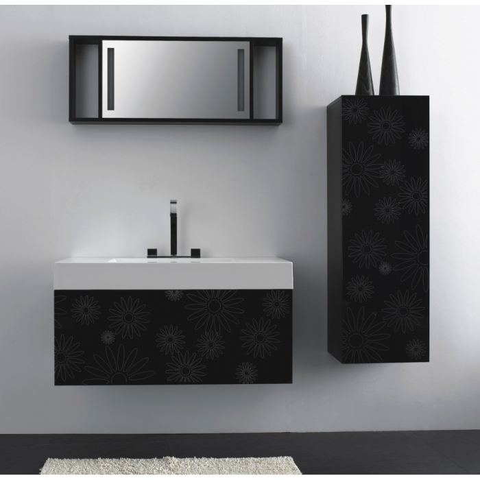 meuble bas salle de bain noir. Black Bedroom Furniture Sets. Home Design Ideas