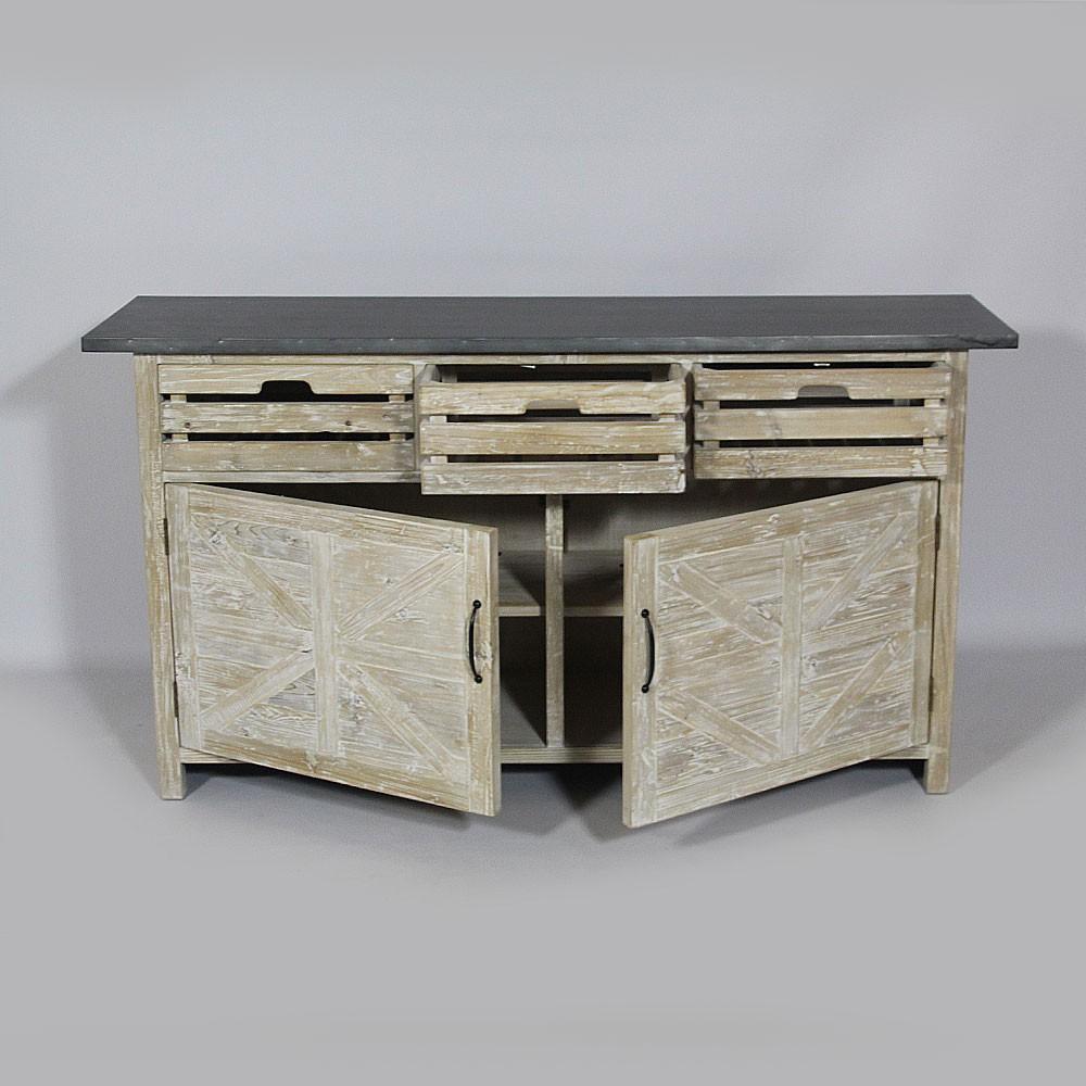 Meuble cuisine en bois meuble cuisine bois scandinave for Meuble de cuisine