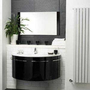 Photo meuble salle de bain noir et blanc