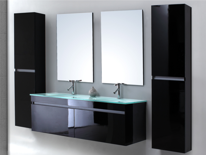 meuble salle de bain noir pas cher. Black Bedroom Furniture Sets. Home Design Ideas