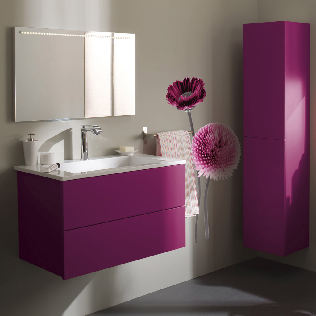 armoire salle de bain violet. Black Bedroom Furniture Sets. Home Design Ideas