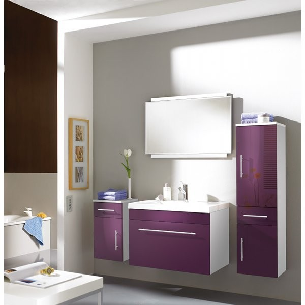meuble salle de bain violet en ligne. Black Bedroom Furniture Sets. Home Design Ideas