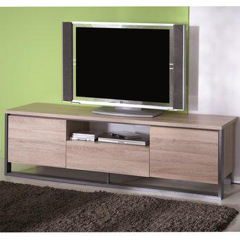 meuble tv bas bois pas cher