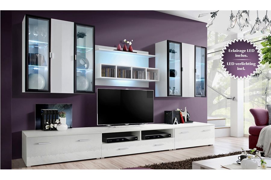 meuble tv bas et long design. Black Bedroom Furniture Sets. Home Design Ideas