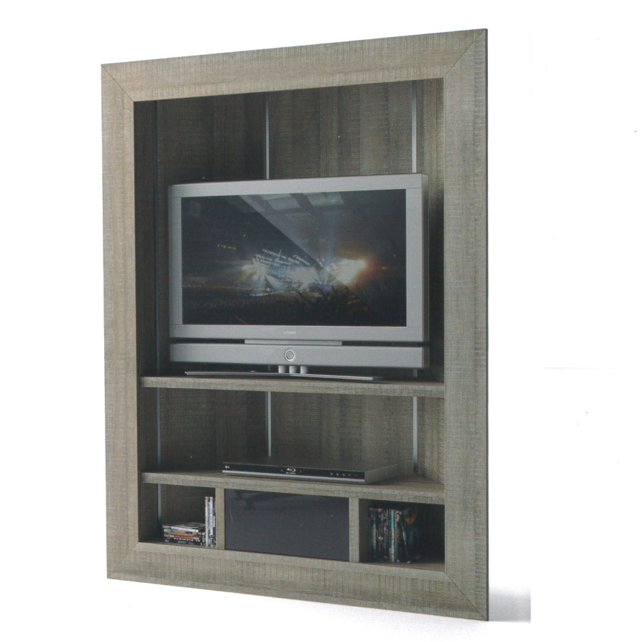 meuble tv haut gris. Black Bedroom Furniture Sets. Home Design Ideas