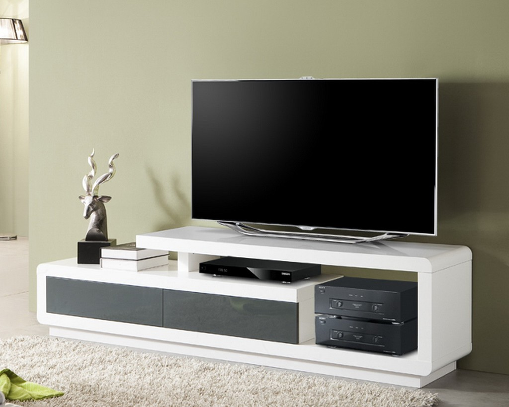 Meuble tv bas pivotant solutions pour la d coration for Meuble tv etagere