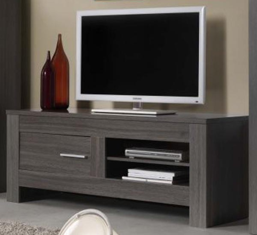 photo meuble tv haut gris. Black Bedroom Furniture Sets. Home Design Ideas