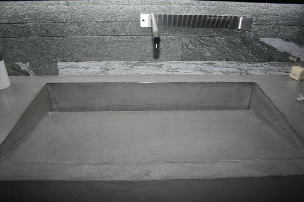 Meuble vasque beton cire for Meuble beton cire