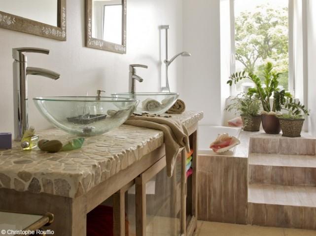 Meuble vasque pierre - Modele vasque salle de bain ...