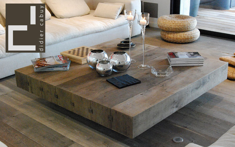 Grande table basse bois hoze home for Table qui se leve