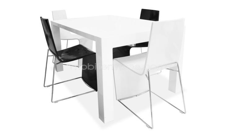 Table a manger blanc laque extensible - Table extensible blanc laque ...