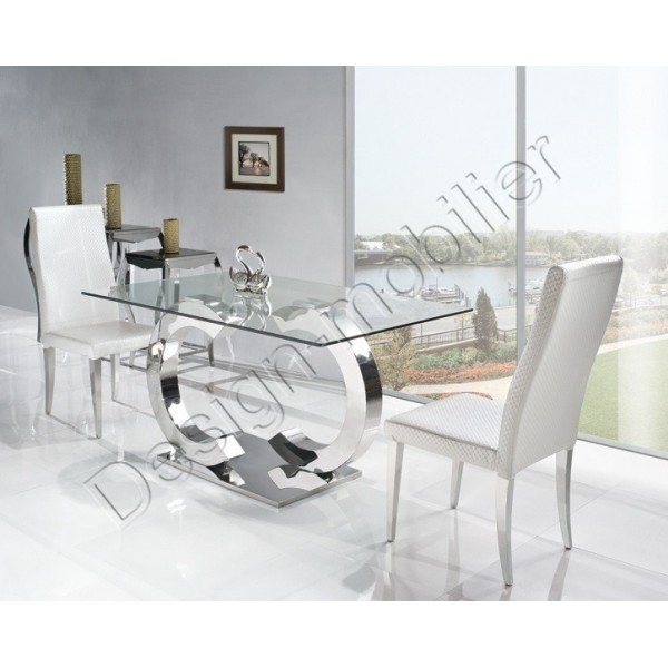Table en verre salle a manger for Table salle a manger carree design en verre