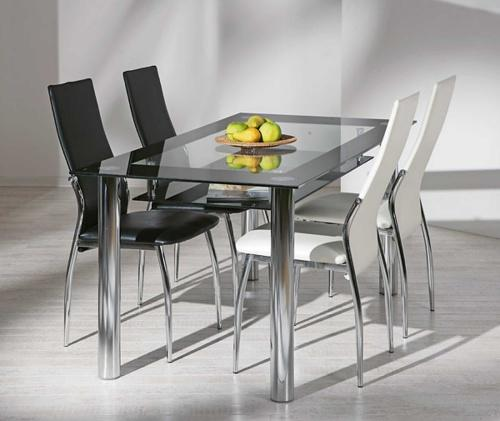 Table a manger en verre - Table a manger industrielle pas cher ...