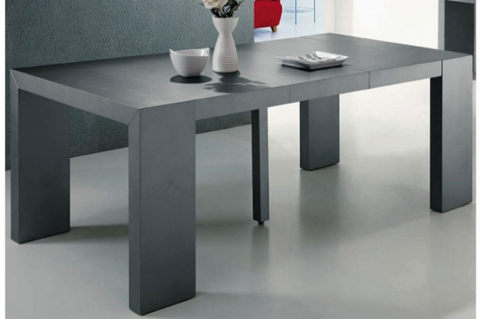 table a manger gris anthracite. Black Bedroom Furniture Sets. Home Design Ideas