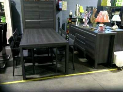 miliboo table manger design ronde personnalise gris anthracite structur - Salle A Manger Gris Anthracite