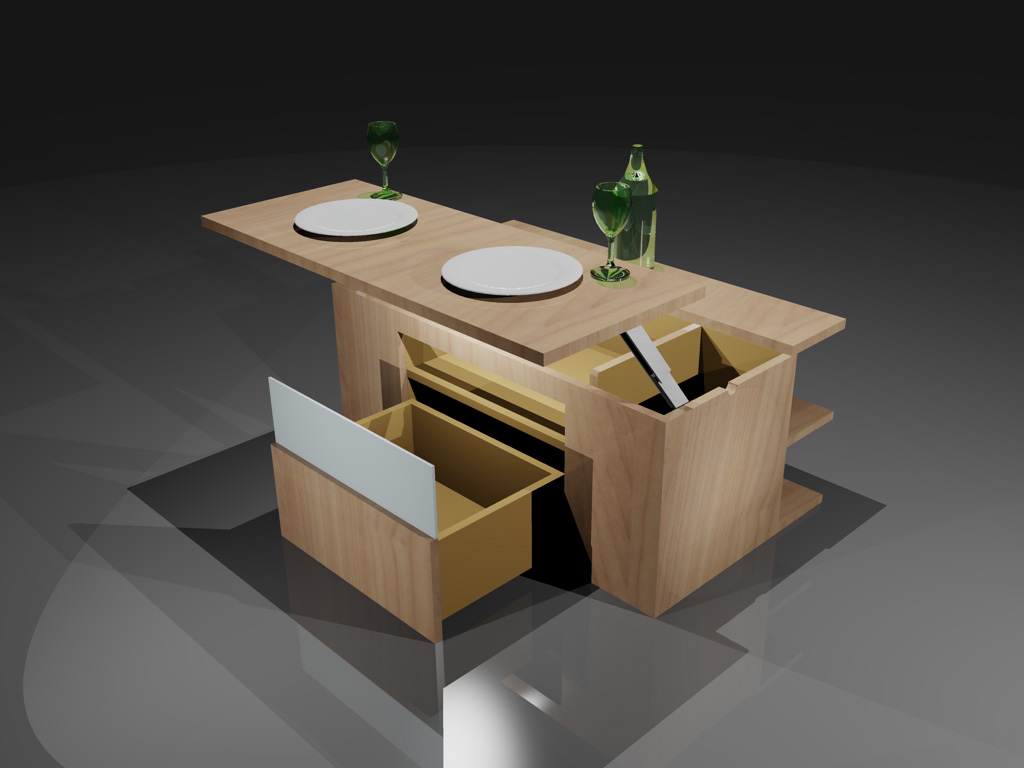 table cuisine escamotable table de cuisine escamotable. Black Bedroom Furniture Sets. Home Design Ideas