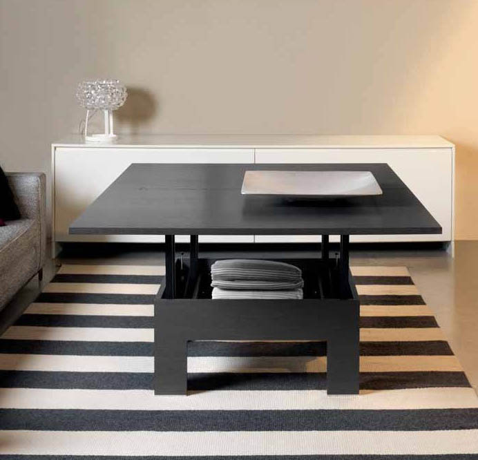 Table basse escamotable 28 images table basse plateau for Table escamotable