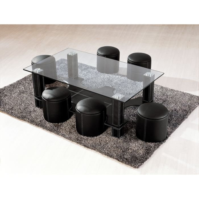 table basse s pouf. Black Bedroom Furniture Sets. Home Design Ideas