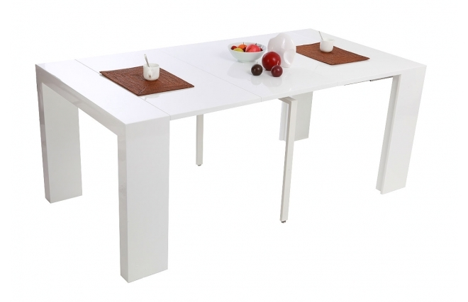 Table console conforama for Table blanche conforama