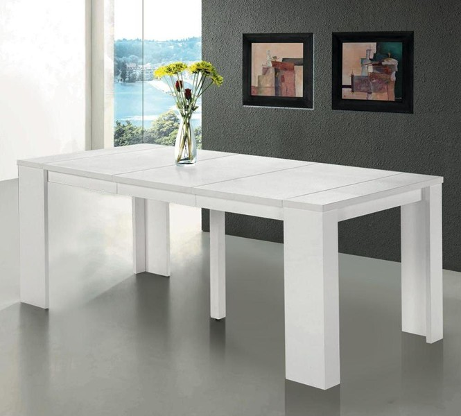 Table salle a manger console extensible conceptions de for Table extensible console