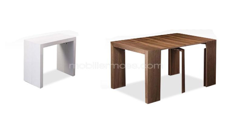meuble console transformable table. Black Bedroom Furniture Sets. Home Design Ideas