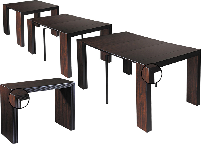 Table console wenge - Tafel console extensible solde ...