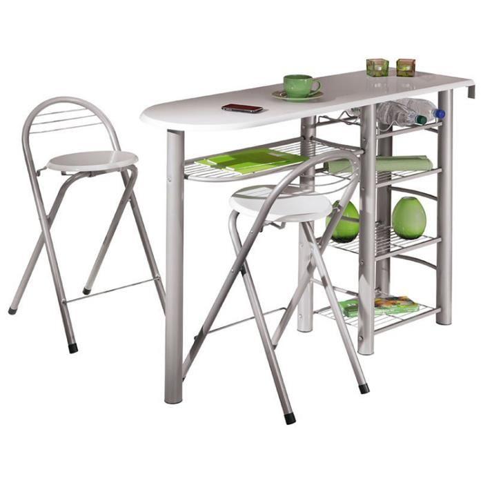 Mobilier maison table de bar cdiscount for Table de bar pas cher
