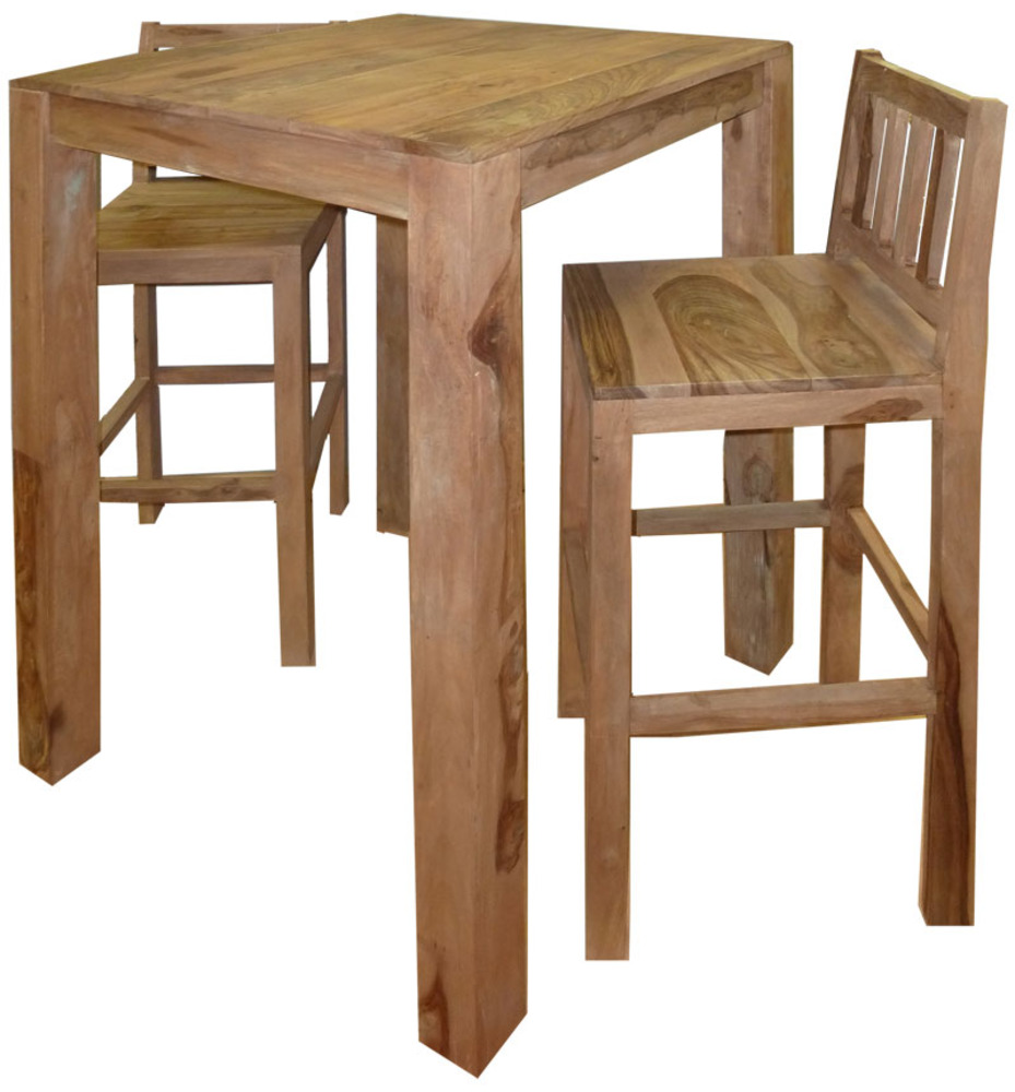 Table de bar haute bois for Table haute bois