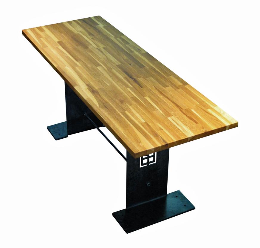 Photo table de bar industrielle for Table de bar
