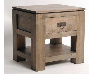 table de chevet gris brun