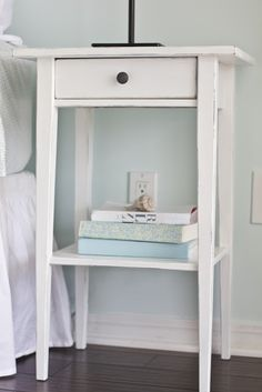 HEMNES Commode 2 tiroirs, teinté blanc  54x66 cm  IKEA