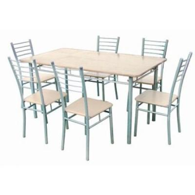 Table et chaise de cuisine grise - Table chaise cuisine ...