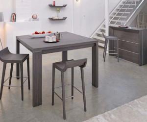 table et chaise de cuisine grise