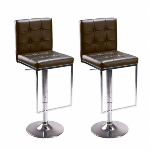 tabouret de bar marron x 2 retro coiffeur. Black Bedroom Furniture Sets. Home Design Ideas