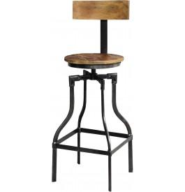tabouret de bar style industriel. Black Bedroom Furniture Sets. Home Design Ideas
