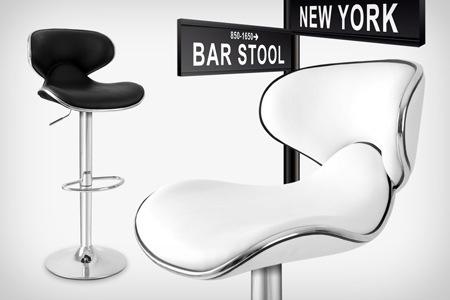 tabouret de bar york blanc. Black Bedroom Furniture Sets. Home Design Ideas