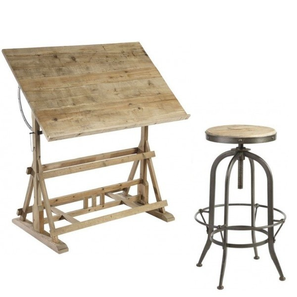 Tabouret pour table de dessin - Table a dessin architecte ...