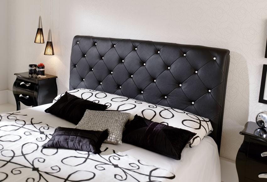 tete de lit cuir capitonné - inspiration du blog