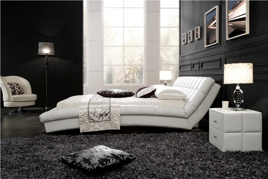 tete de lit cuir pinterest the world s catalog of ideas bedroom with a white leather headboard. Black Bedroom Furniture Sets. Home Design Ideas