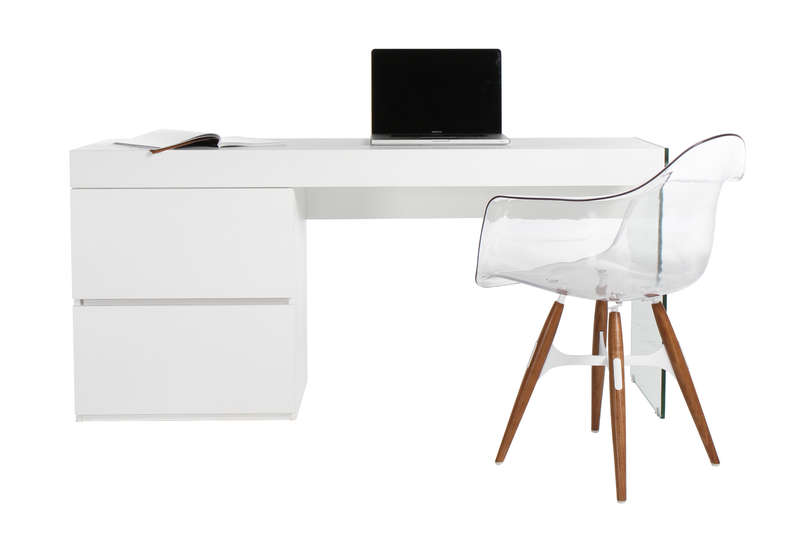 Armoire de bureau blanc laque for Armoire bureau blanc