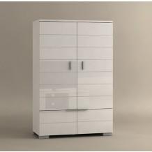 Armoire de bureau blanc laque - Meuble informatique blanc laque ...