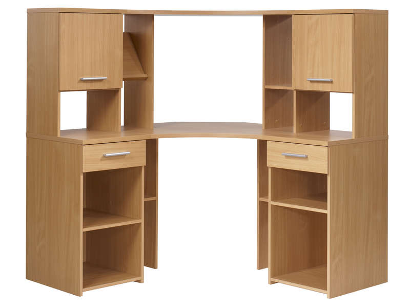 Armoire de bureau d 39 angle for Meuble informatique d angle