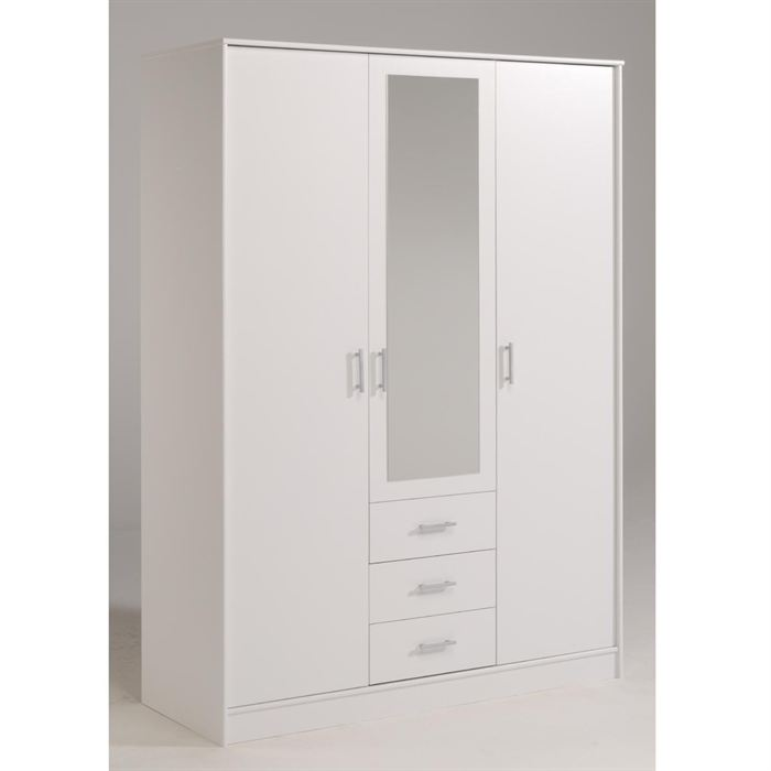 Conforama armoire porte coulissante interesting armoire for Armoire penderie blanc conforama