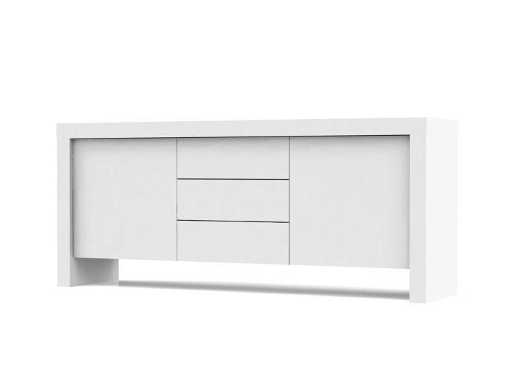 buffet bas blanc pas cher. Black Bedroom Furniture Sets. Home Design Ideas