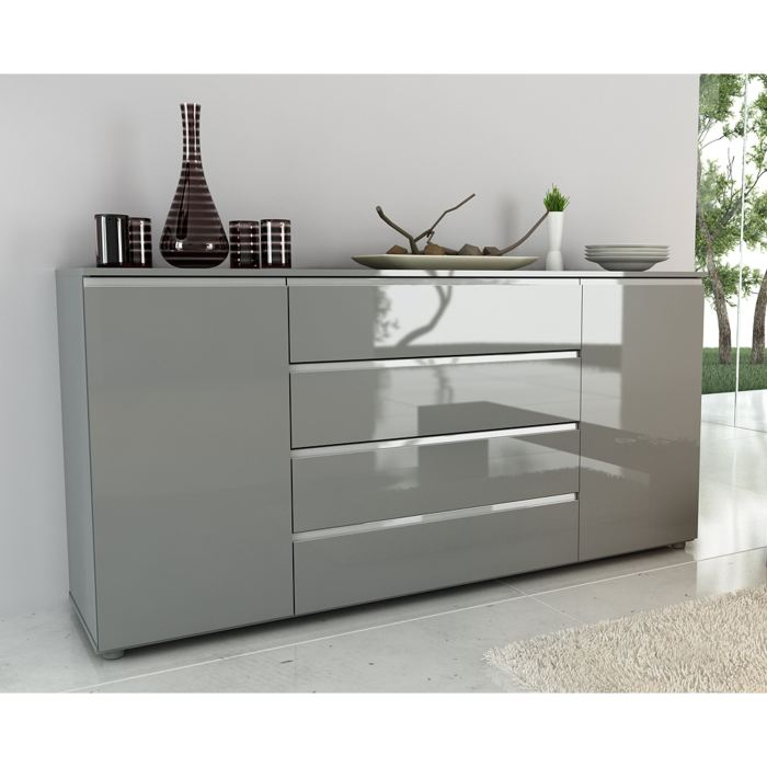 Best exceptional buffet gris pas cher loft buffet bas for Mobilier industriel pas cher