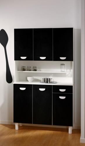 meuble cuisine noir meuble cuisine melamine pas cher. Black Bedroom Furniture Sets. Home Design Ideas