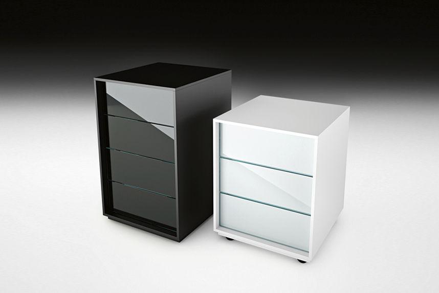Caisson de bureau en verre - Caisson bureau noir ...